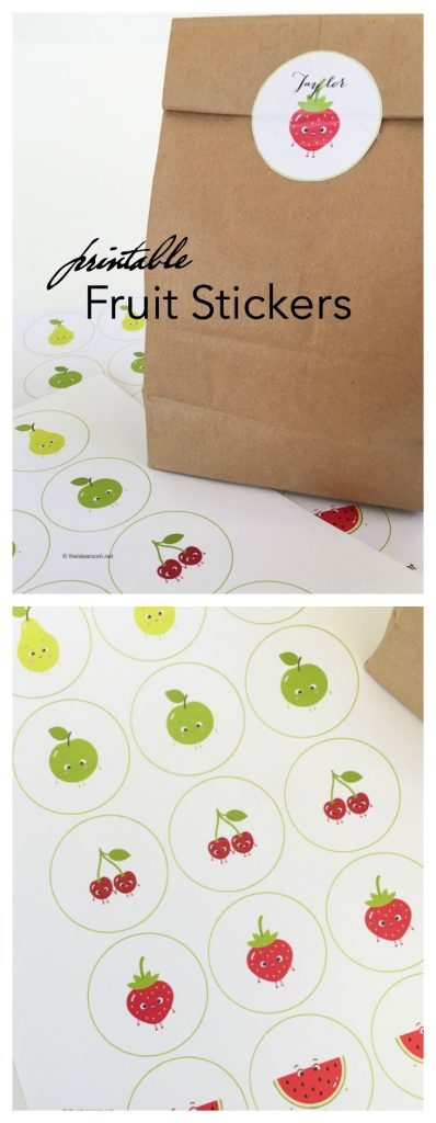 Back to School Printable Fruit Stickers