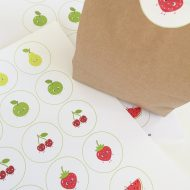 Printable Fruit Stickers