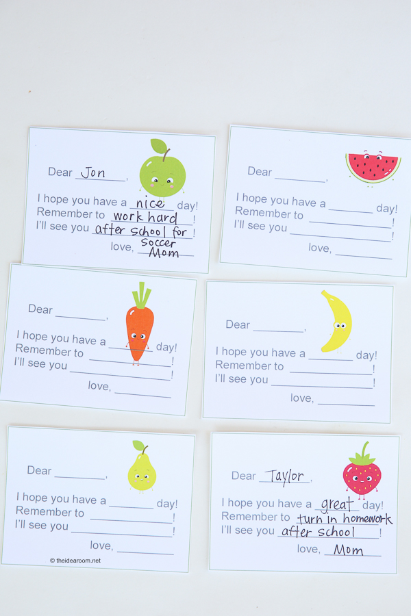 Printable Lunch Box Notes theidearoom.net-5