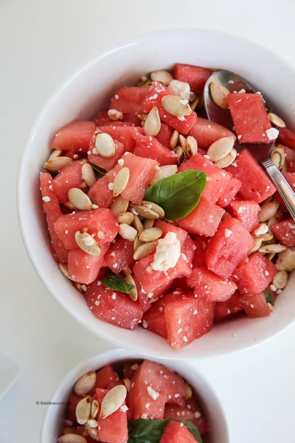 Watermelon Basil Salad theidearoom.net-1