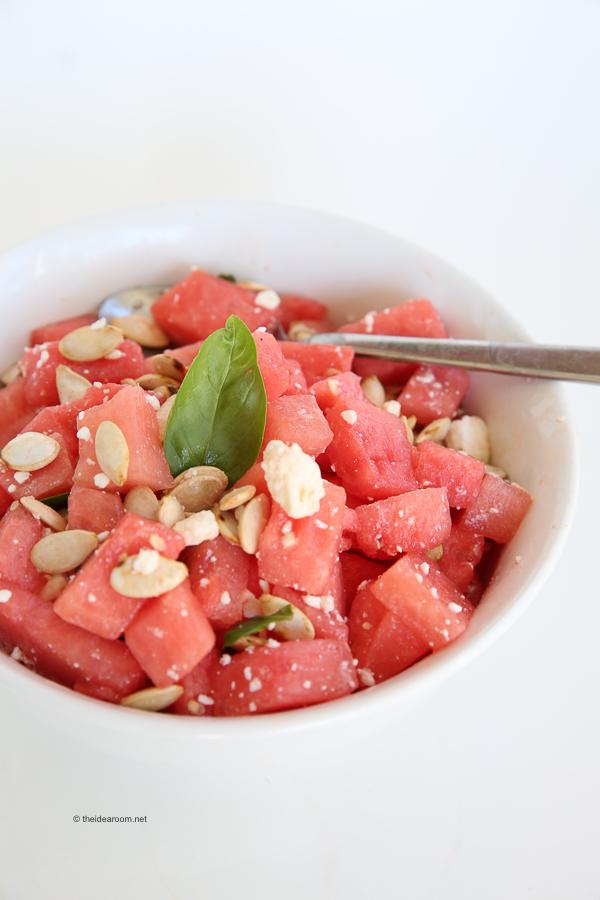 Watermelon Basil Salad theidearoom.net-3