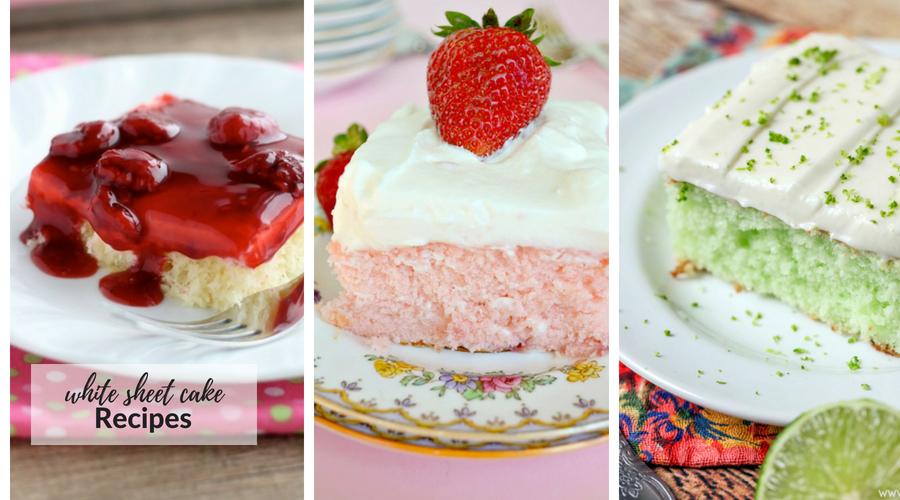 white sheet cake recipes