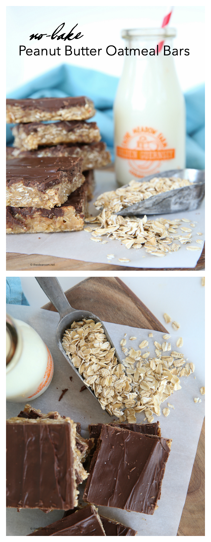 No Bake Peanut Butter Cookies With Old Fashioned Oats