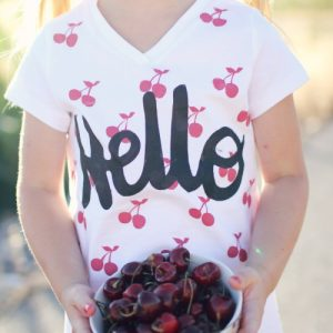 Summer Craft: Stenciled T-Shirt