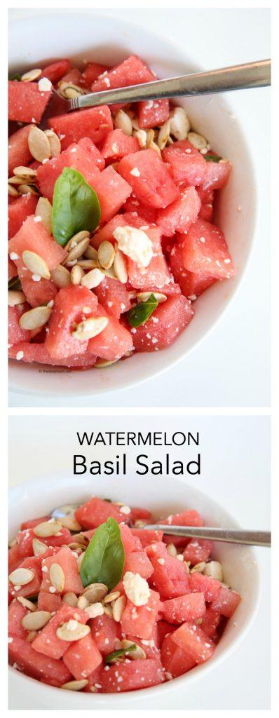 watermelon basil salad pin