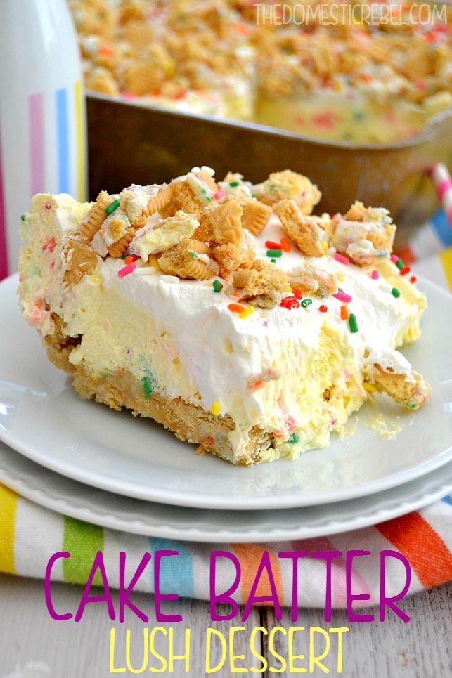 Lemon Cream Birthday Cake