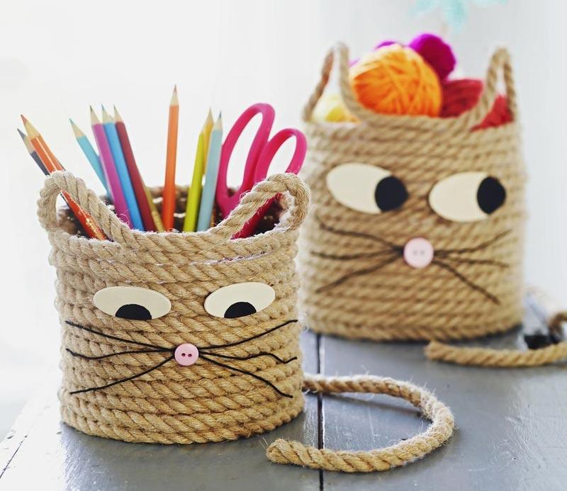 Easy-Craft-for-Kids-Cat-Storage-Baskets-1