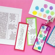 DIY Back to School Coloring Page Bookmarks