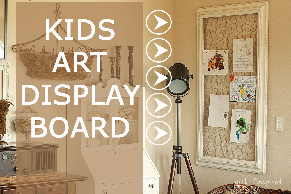 Diy Kids Art Displays The Idea Room