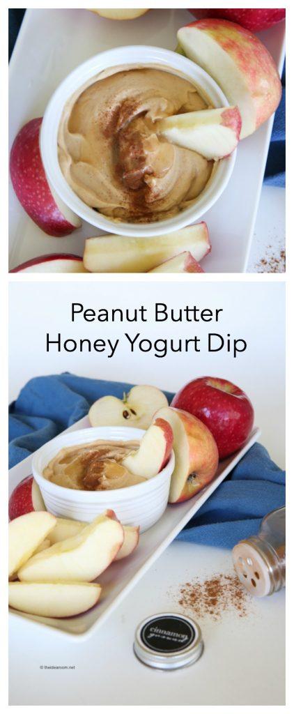 Peanut Butter Honey Yogurt Dip Recipe pin