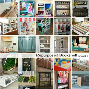 Repurposed Bookshelf Ideas