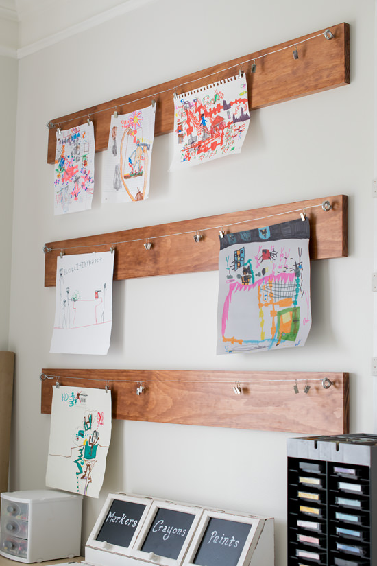 Rustic-Childs-Art-Display
