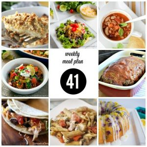 Weekly Meal Plan #41