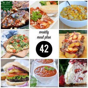 Weekly Menu Plan 42
