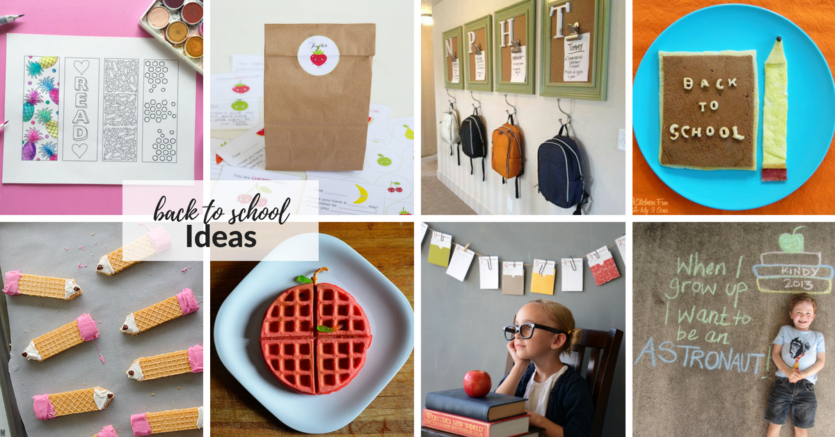Why not celebrate the first day of school and make it extra special for your kids with these back to school ideas.