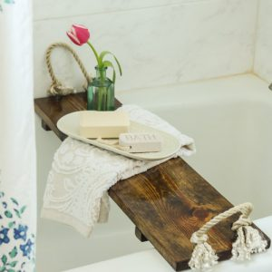 DIY Bath Tub Tray Tutorial