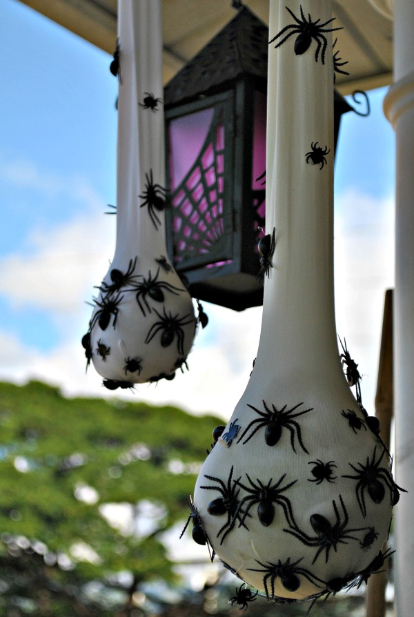 creepy spider 016 climbing halloween skeletons from instructables - Outdoor Halloween Decorations Ideas