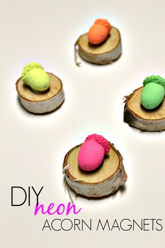 diy-neon-acorn-magnets1