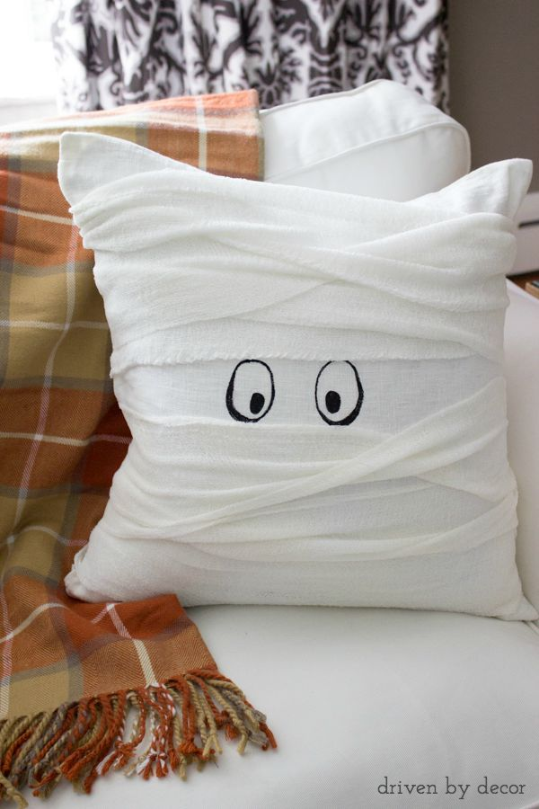 halloween mummy pillow so cute and a super - Halloween Mummy Crafts