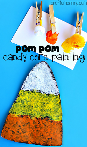 pom-pom-painting-candy-corn-craft-for-kids