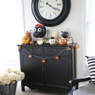 Halloween Home Decorating Tour and a Giveaway