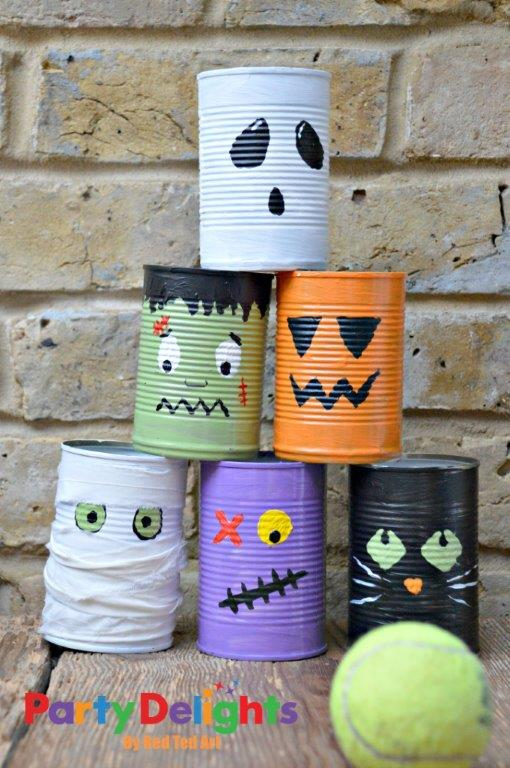 halloween-tin-can-bowling-craft