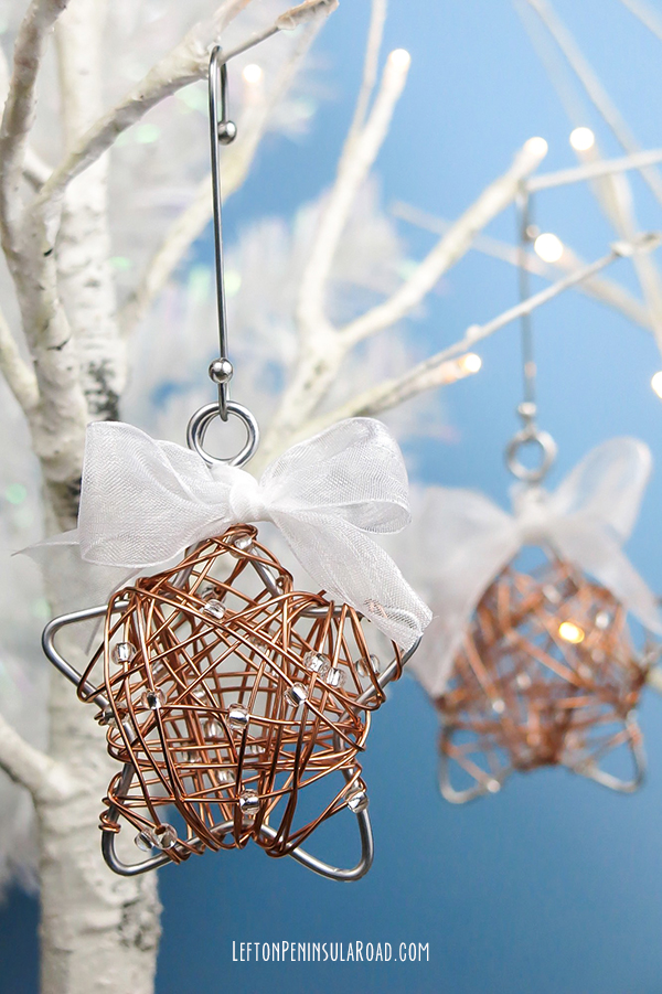 DIY Wire-Wrapped Star Christmas Ornament