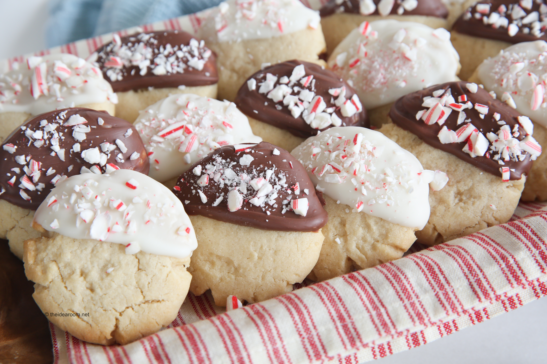 Chocolate Dipped Peppermint Sugar Cookies Recipe