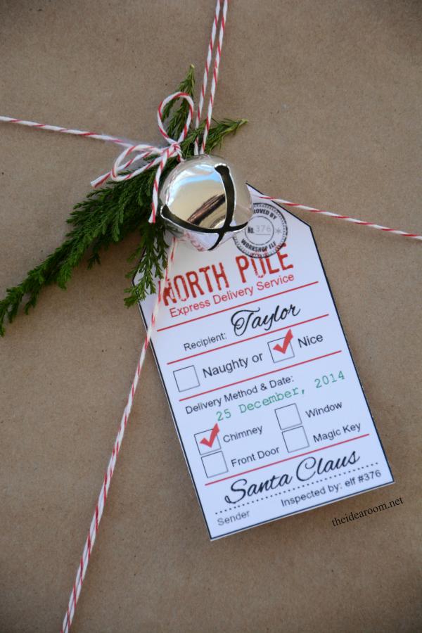 It's just an image of Vibrant Santa Gift Tags Printable