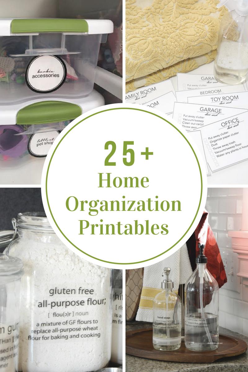 25-Home-Organization-Printables
