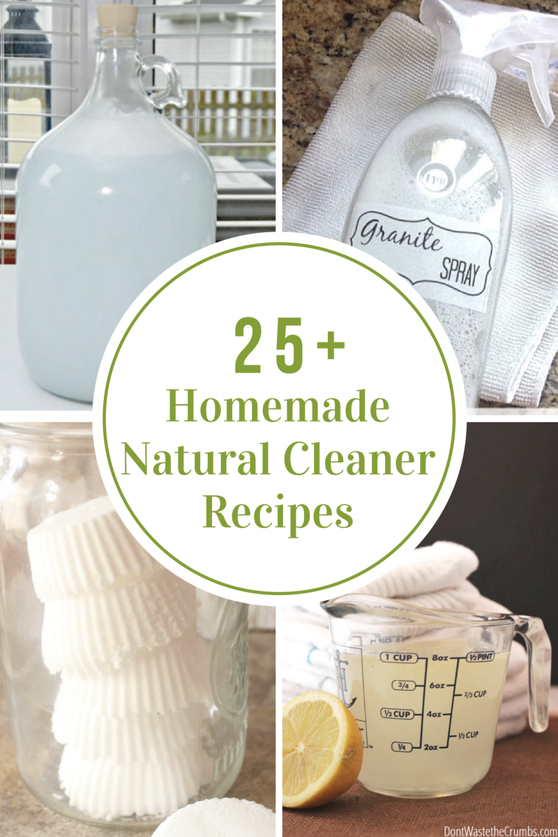 Homemade Natural Cleaner Recipes - The