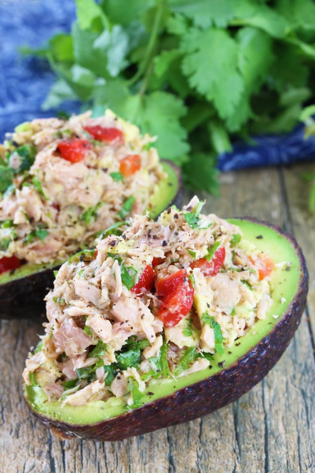 Healthy Tuna Stuffed Avocado 1