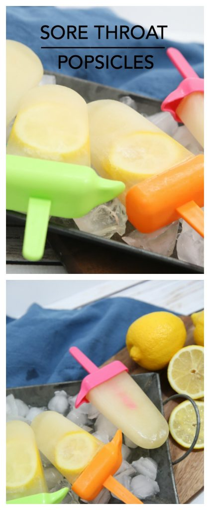 sore throat popsicles pin