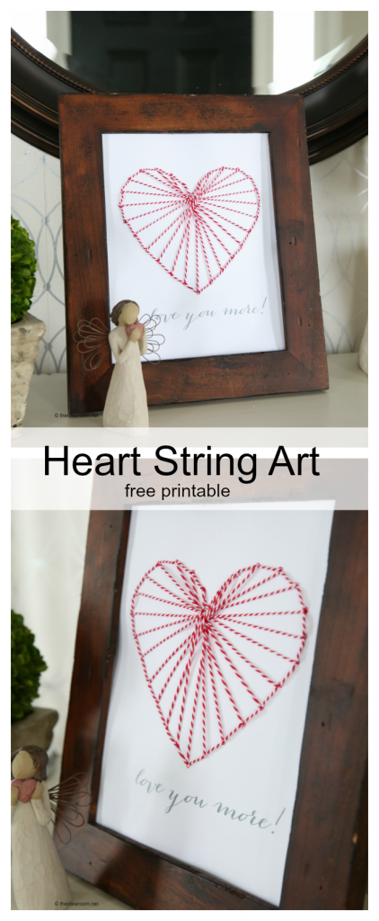 heart string art pin