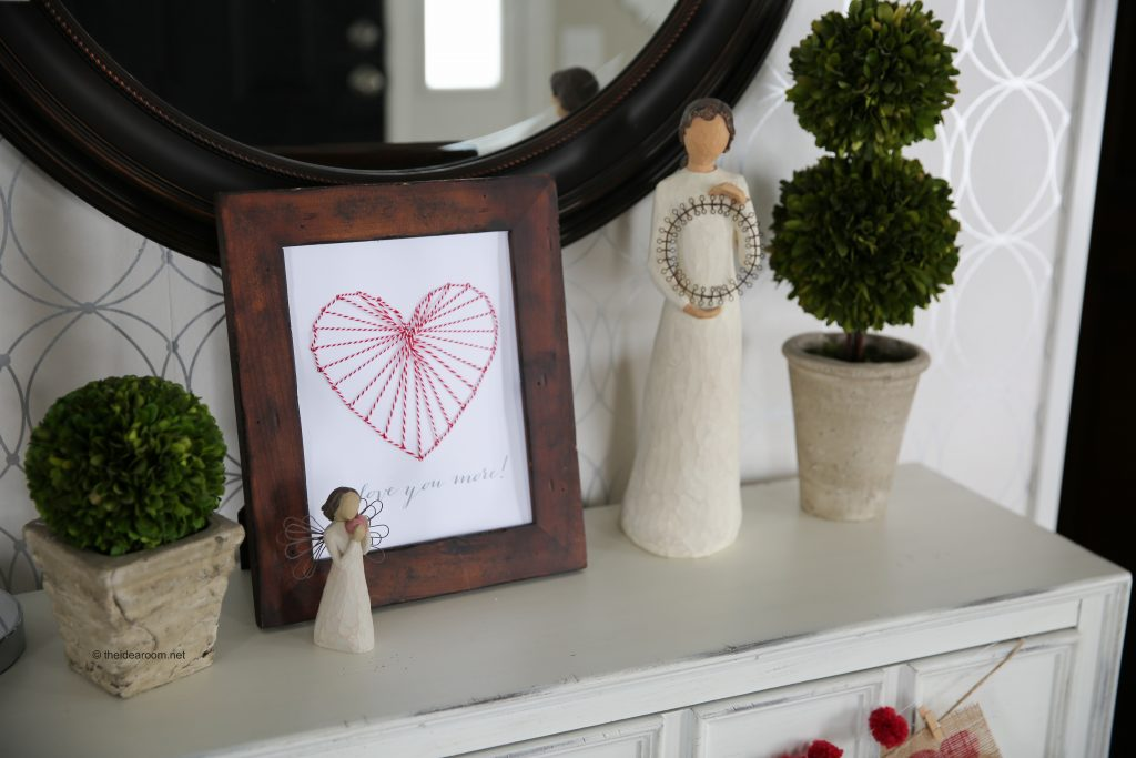 Heart String Art Decor The Idea Room