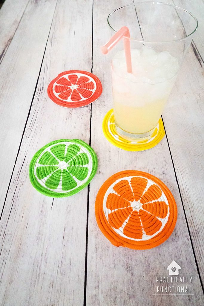 summer-craft-DIY-rope-coasters