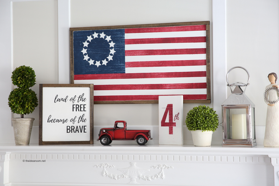 4th of July DIY Wood Flag