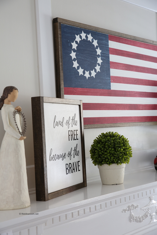 fourth of july wood sign decor