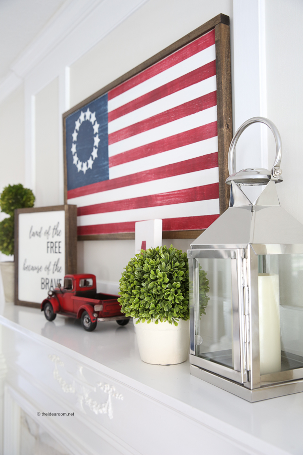american flag wood sign DIY decor