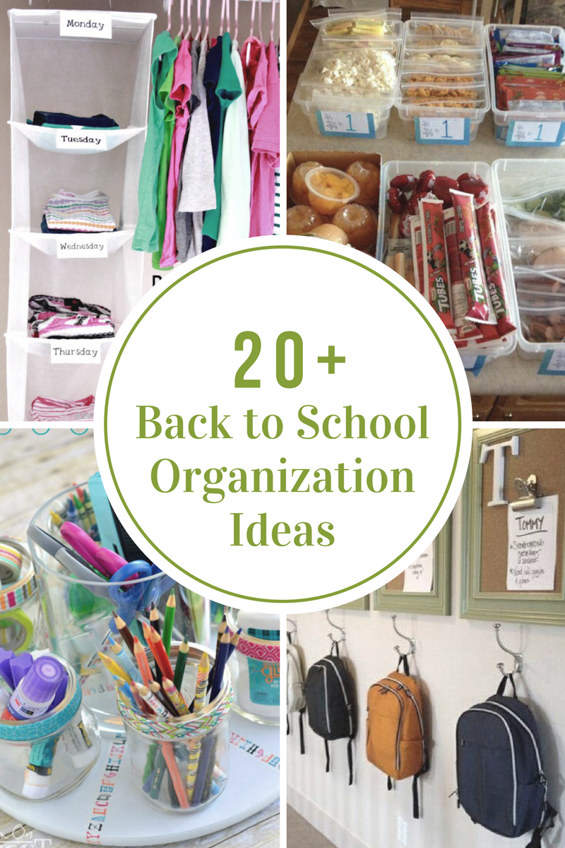Back To School Organization Ideas The Idea Room