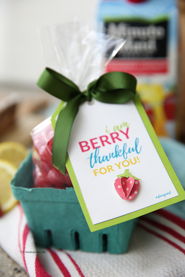 I am Berry Thankful For You Gift Tag