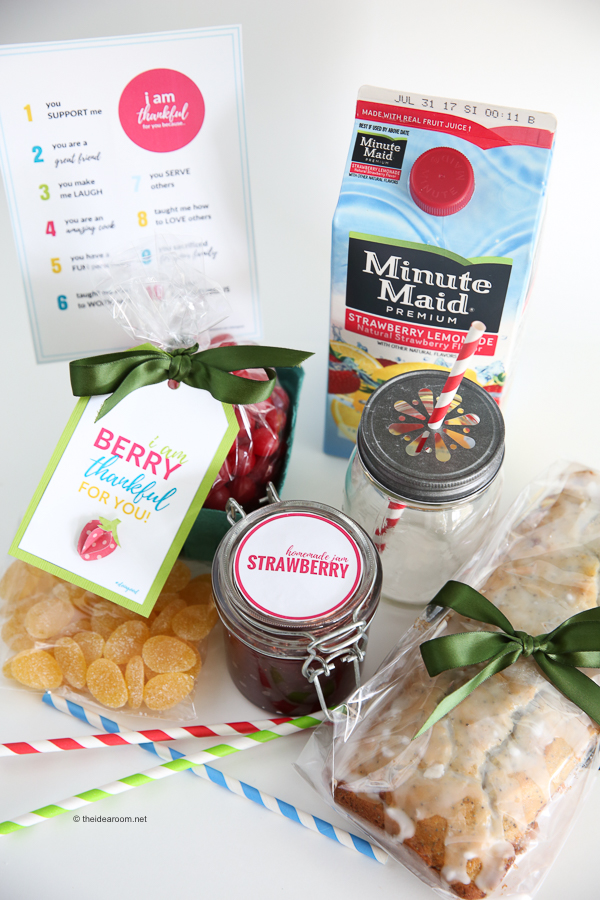 Lemon Poppy Seed + Strawberry Swirl Bread Gift Tag Minute Maid A Care Package Idea