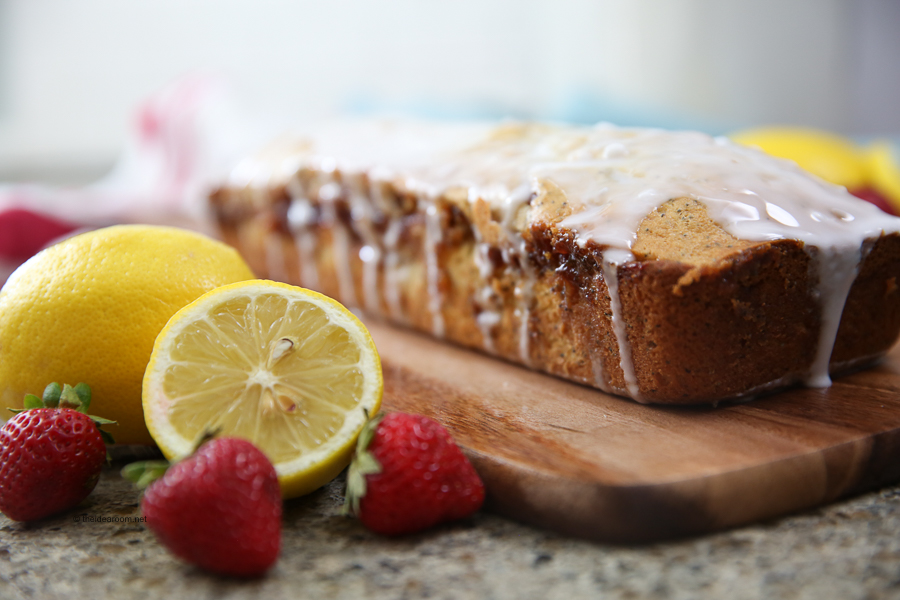 Lemon Poppy Seed + Strawberry Swirl Bread Recipe