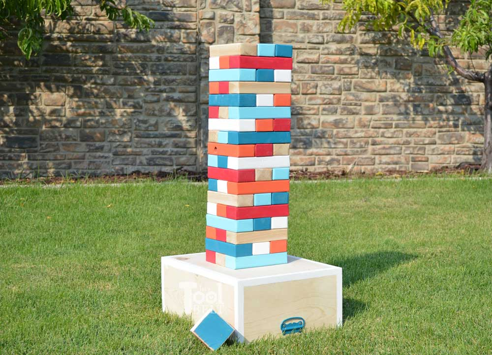 How To Make A Diy Giant Jenga Game The Idea Room