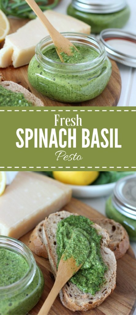 Fresh Basil Spinach Pesto Recipe