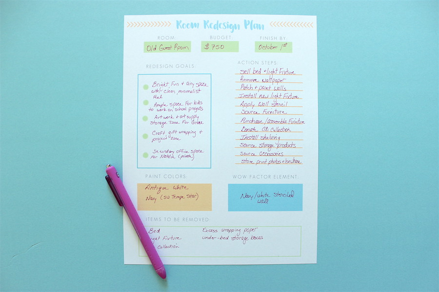 Printable-Room-Redesign-Planner-in-Action