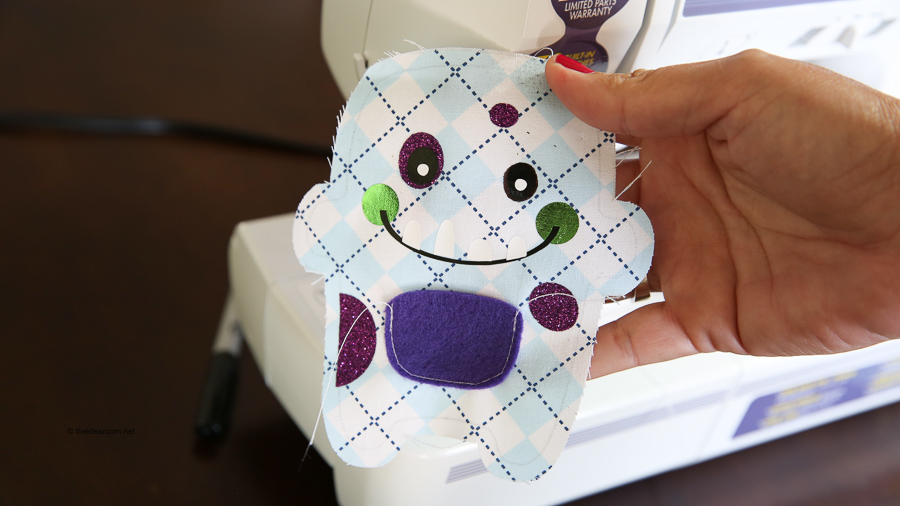simple cricut make tooth fairy monster sewing project