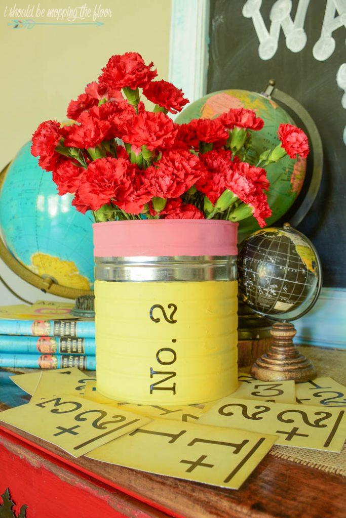 DIY Back To School Craft + Pencil Vase