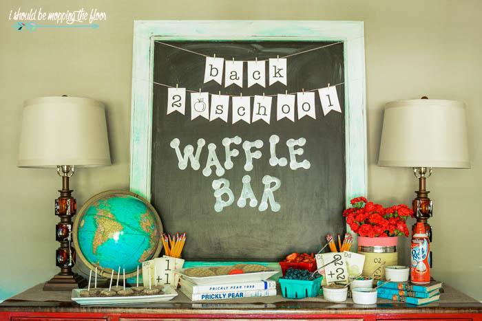 Back to School Waffle Bar Sign