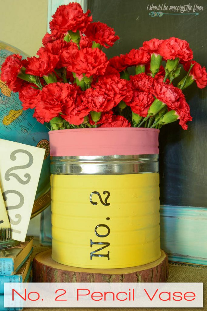 This No. 2 Pencil vase is perfect for a back-to-school gift or classroom decor.